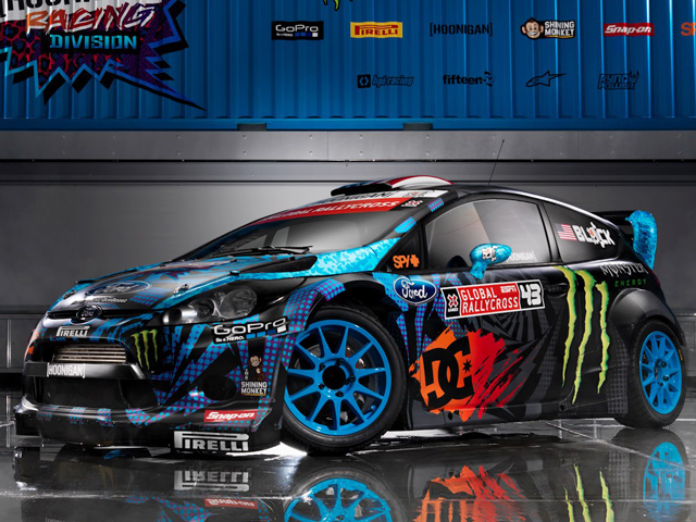 ken block pr sente sa nouvelle ford fiesta 2013 hoonigan en images et vid o autoday. Black Bedroom Furniture Sets. Home Design Ideas